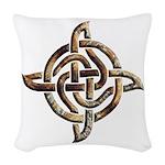 Celtic Rock Knot Woven Throw Pillow