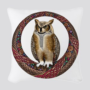 Celtic Owl Woven Throw Pillow