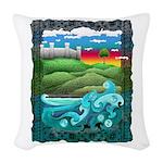 Celtic Castle Tor Woven Throw Pillow