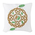 Celtic Nature Yin Yang Woven Throw Pillow