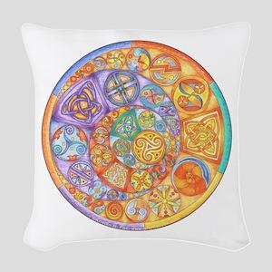 Celtic Crescents Rainbow Woven Throw Pillow