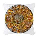 Celtic Crescents Woven Throw Pillow