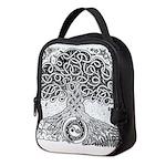Celtic Tree of Life Ink Neoprene Lunch Bag