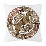 Celtic Dog Woven Throw Pillow
