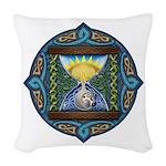 Celtic Sun-Moon Hourglass Woven Throw Pillow