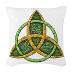 Celtic Trinity Knot Woven Throw Pillow