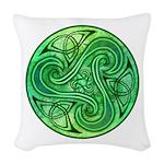 Celtic Triskele Woven Throw Pillow