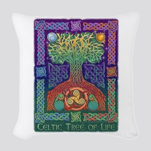 Celtic Tree of Life Woven Throw Pillow