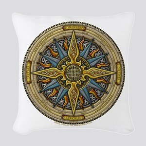 Celtic Compass Woven Throw Pillow