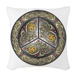 Bejeweled Celtic Shield Woven Throw Pillow