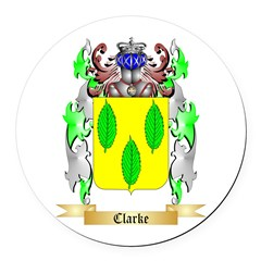 Clarke Round Car Magnet