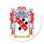 Clark Round Car Magnet