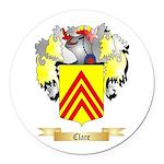 Clare Round Car Magnet