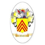 Clare Sticker (Oval 50 pk)