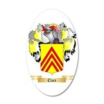 Clare 35x21 Oval Wall Decal