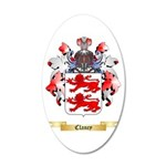 Clancy 20x12 Oval Wall Decal