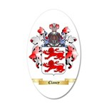 Clancy 35x21 Oval Wall Decal