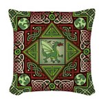 Celtic Dragon Labyrinth Woven Throw Pillow