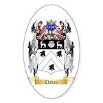 Clabon Sticker (Oval 50 pk)