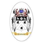 Clabburn Sticker (Oval 50 pk)