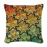 Celtic Leaf Tesselation Woven Throw Pillow
