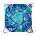 Celtic Planet Woven Throw Pillow