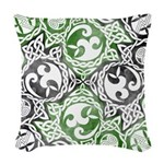Celtic Knotwork Puzzle Square Woven Throw Pillow