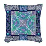 Celtic Atlantis Opal Woven Throw Pillow