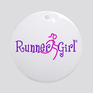 RunnerGirl Ornament (Round)