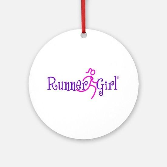 RunnerGirl Ornament (Round)