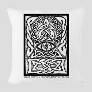 Celtic All-Seeing Eye Woven Throw Pillow