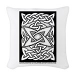 Celtic Knotwork Quasar Woven Throw Pillow