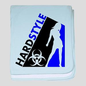 Hardstyle Dancer and Biohazard design baby blanket