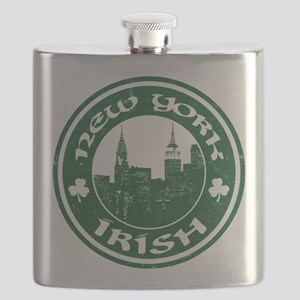 New York Irish American Flask