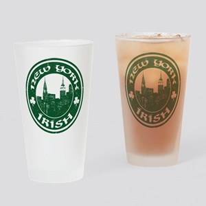 New York Irish American Drinking Glass