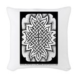 Celtic Knotwork Afire Woven Throw Pillow