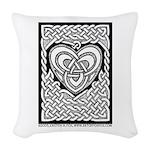 Celtic Knotwork Heart Woven Throw Pillow