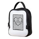 Celtic Knotwork Heart Neoprene Lunch Bag