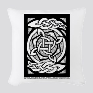Celtic Knotwork Spin Woven Throw Pillow