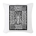 Celtic Knot Bare Branches Woven Throw Pillow