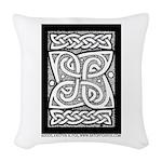 Celtic Knotwork Cloverleaf Woven Throw Pillow