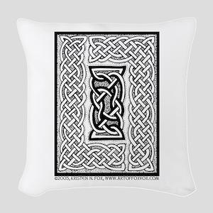 Celtic Knotwork Framing Woven Throw Pillow