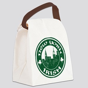 New York Irish American Canvas Lunch Bag
