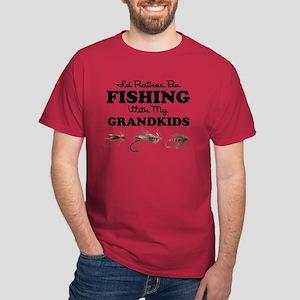 Rather Be Fishing Grandkids Dark T-Shirt