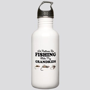 Rather Be Fishing Grandkids Stainless Water Bottle