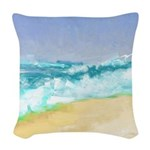 Ocean Vigor Woven Throw Pillow