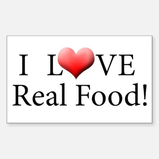 I Love Real Food Logo Decal