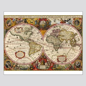 World Map 1630 Small Poster