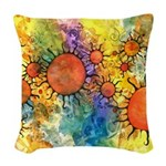 Primordial Suns 2 Woven Throw Pillow