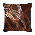 Radiant Heat Fractal Woven Throw Pillow